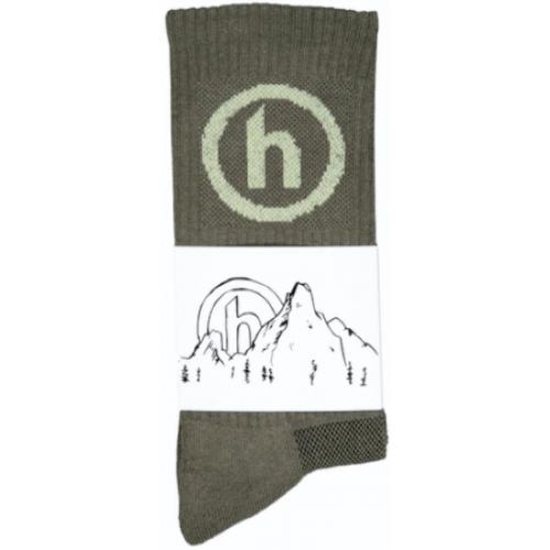 Hidden NY Crew Socks Olive