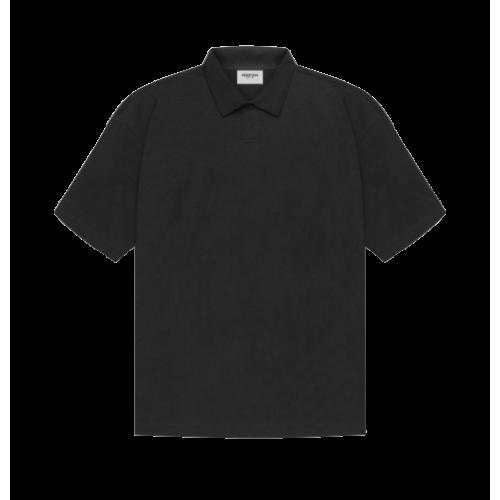 Fear Of God Essentials Black Polo T-Shirt