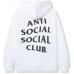 Anti Social Social Club Hello Goodbye Hoodie White