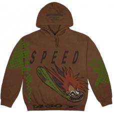 Travis Scott Cactus Jack Speed Hoodie Brown