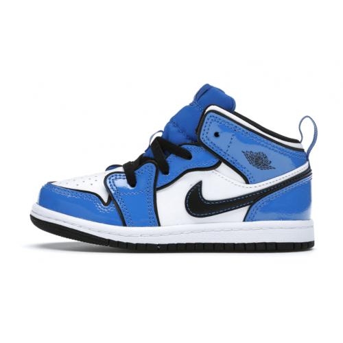 Jordan 1 Mid Signal Blue (TD)