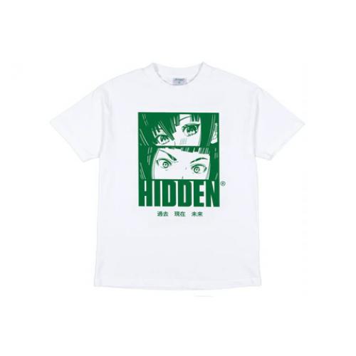 Hidden NY Anime Tee White/Green