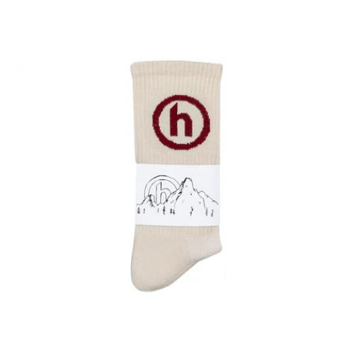 Hidden NY Crew Socks Maroon
