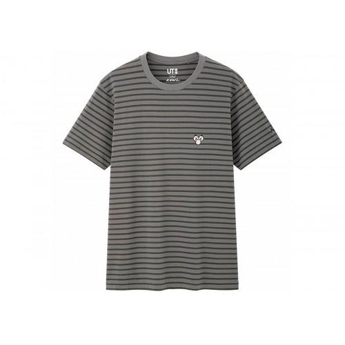 KAWS X Uniqlo BFF Grey Stripe