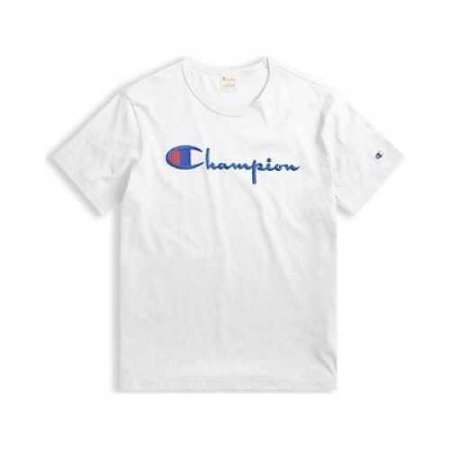 Champion Classic Mid Logo Tee White