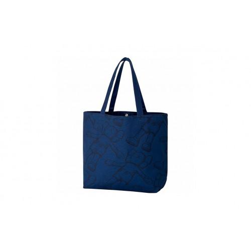 Kaws X Uniqlo Blue Tote Bag