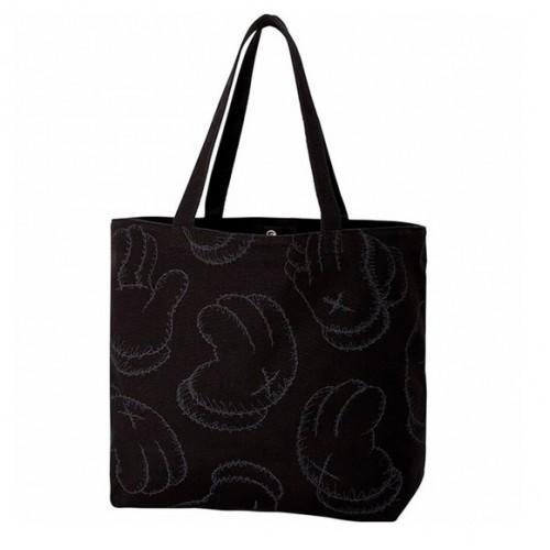 KAWS X uniqlo Tote Black Bag