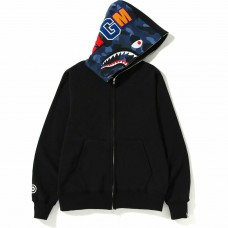 Bape Shark Full Zip Hoodie Camo