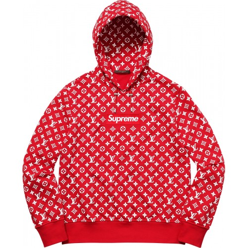 Louis Vuitton x Supreme Box Logo Hooded Sweatshirt