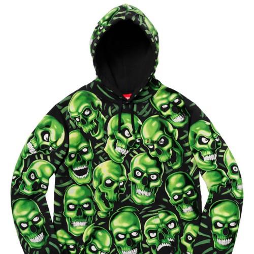Supreme X Skull Hoodie