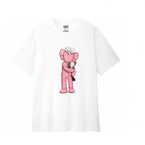 KAWS X Uniqlo BFF UT Pink Companion