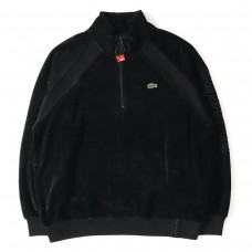 Supreme X Lacoste Velour Half Zipped