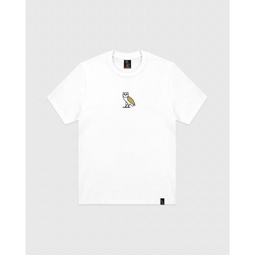 Ovo Classic Owl Logo White Tee