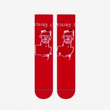 Stance Socks X Jean-Michel Basquiat Red