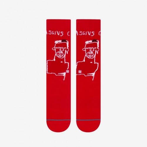 Stance Socks X Jean-Michel Basquiat Red