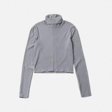 Kith Women Brynn L/S Turtleneck Light Gray