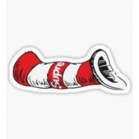 Supreme Cat in the Hat Sticker