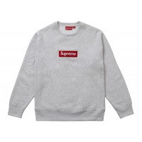 Supreme Box Logo crewneck Sweater Grey FW18