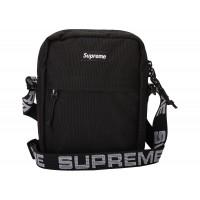 SS18  Supreme Shoulder Bag Black Cordura