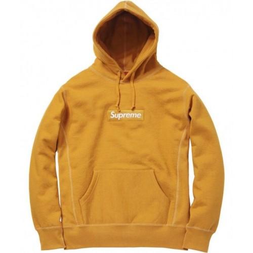 Supreme Box Logo Hoodie Yellow