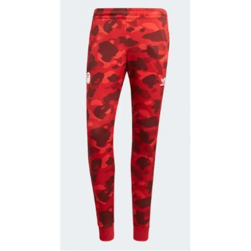 Adidas X Bape Track Pants Red