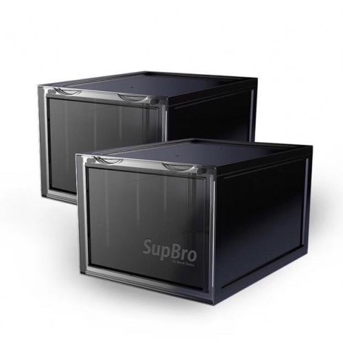 SupBro Sneaker Storage Boxes Set of 2