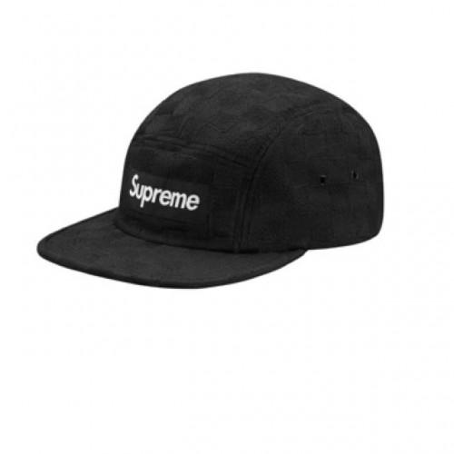 Supreme Checker Weave Camp Cap