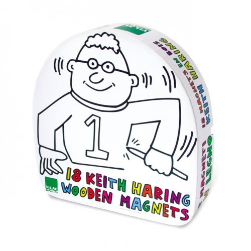 Keith Haring Wooden Magnets