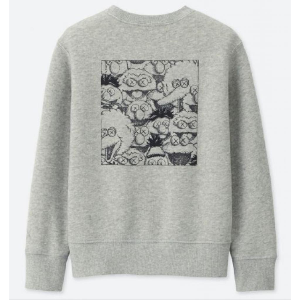 d86f741ef46 Uniqlo Kaws X Sesame Street Sweatshirt Gray by Youbetterfly