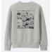 Uniqlo Kaws X Sesame Street Sweatshirt Gray