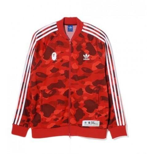 Adidas Bape Track Top Red