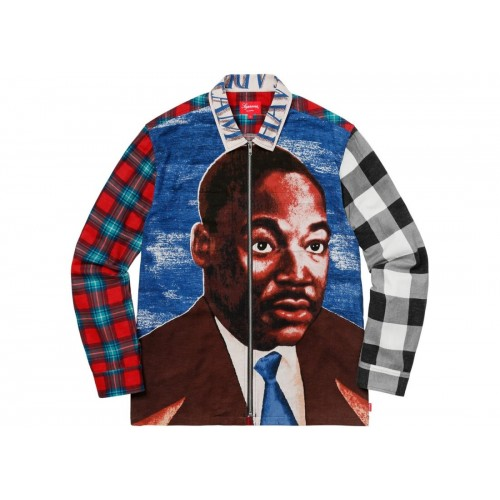 Supreme Shirt Martin Luther King Jr Zip Up Flannel