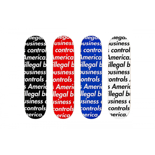 Supreme X Illegal Business Controls America Deck