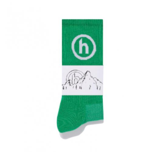 Hidden NY Crew Socks Slime Green