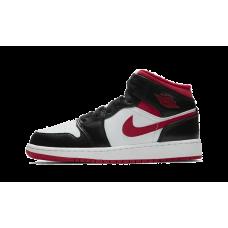 Jordan 1 Mid Black Gym Red (GS)