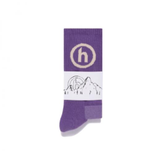Hidden NY Crew Socks Purple