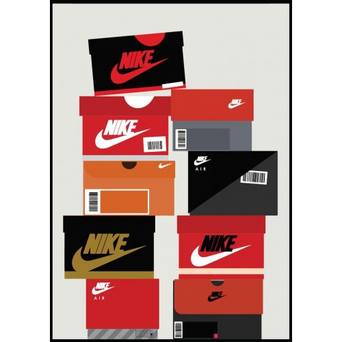 Nike Boxes Customized Poster