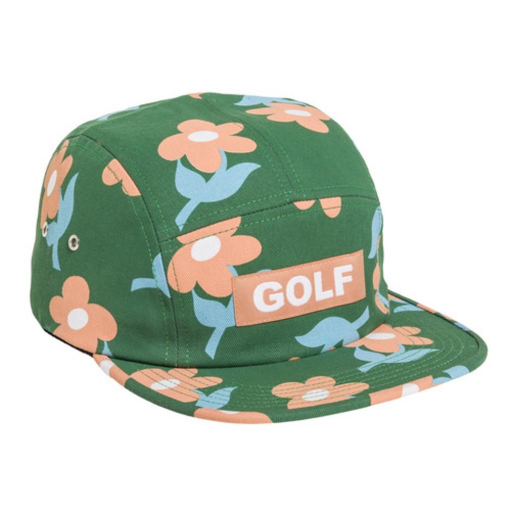 Golf LE Fleur Green Camp Hat by Youbetterfly 33d297e5b3c
