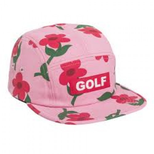 Golf find some time camp hat pink