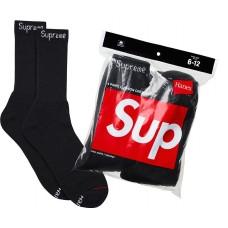 Supreme Hanes Crew Socks Black