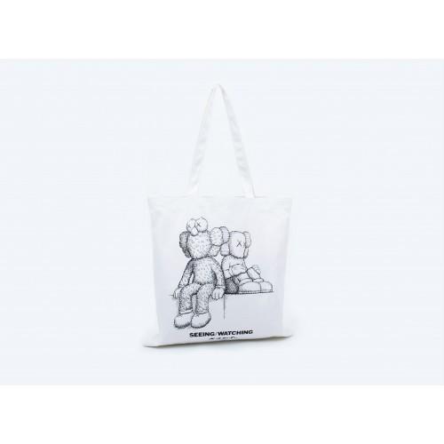 KAWS SEEING/WATCHING Tote Bag (B/W sketch)