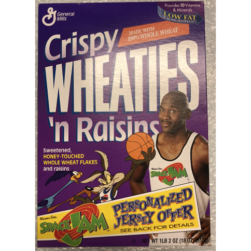 Vintage Wheaties Michael Jordan Space Jam Cereal Box