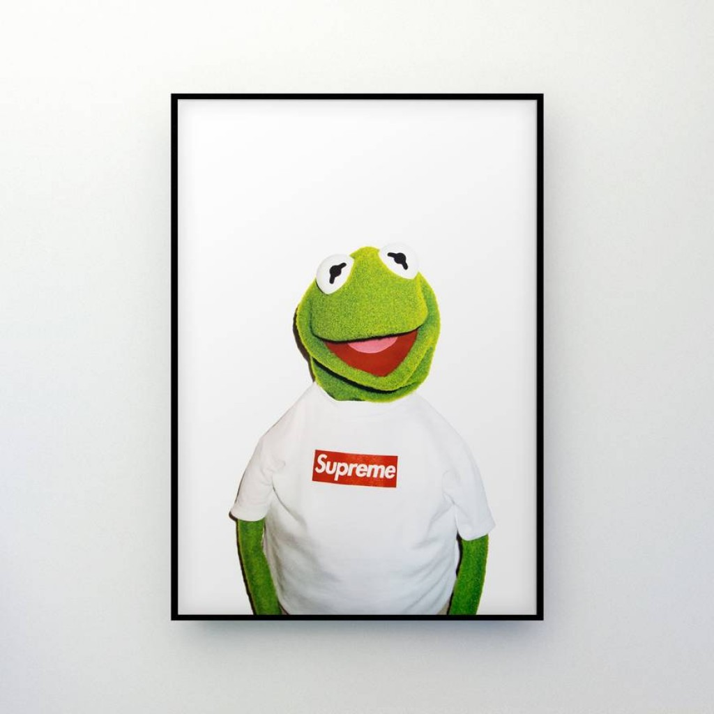 Supreme X Kermit The Frog Original Poster By Youbetterfly