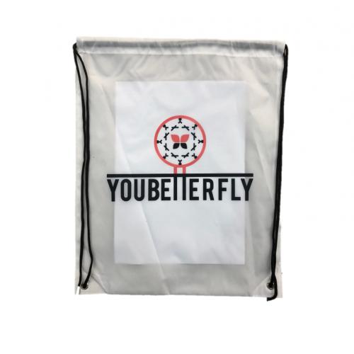 youbetterfly translucent Drawstring Bag