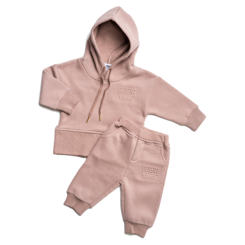 Desert Young Hoodie Set Mauve
