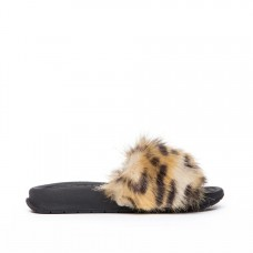Kids Supply - Faux Fur Slides Leopard by KK