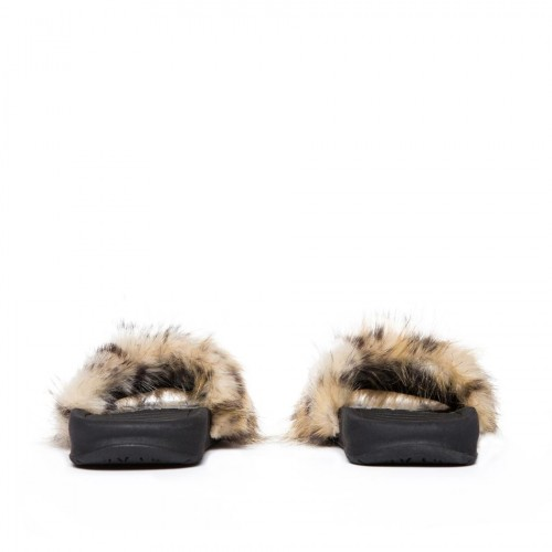 Kids Supply - Faux Fur Slides Leopard by KK