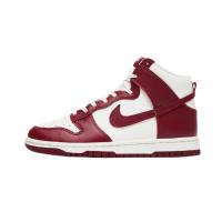 (W) Nike Dunk High Sail Team Red