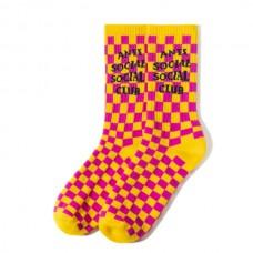 ASSC Broken Ankle Socks - Yellow Checkerboard