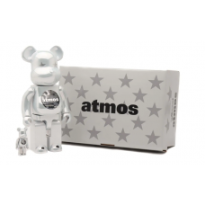 "Medicom Toy Taps X Atmos For A Glossy ""White Chrome"" BE@RBRICK"